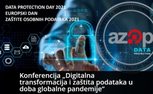 """Najava konferencije """"Digitalna transformacija i zaštita podataka u doba globalne pandemije"""""""