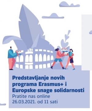 """Najava konferencije """"Novi početak za bolje sutra - Erasmus+ i Europske snage solidarnosti"""""""