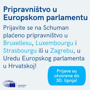 Otvorene prijave za stažiranje u Europskom parlamentu