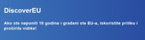 Poziv mladima na upoznavanje Europe