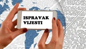 ISPRAVAK VIJESTI - Plan gospodarenja otpadom za Hrvatsku