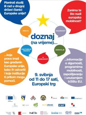 Doznaj (na vrijeme) - Europski trg (Zagreb), 9. svibnja 2016., 11:00 – 17:00 sati