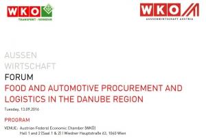 Poslovni susreti na 6. konferenciji Dunavskog područja: 13. rujna 2016. u Beču, Austrija