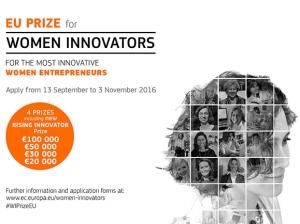 EU nagrada za žene inovatorice i poduzetnice