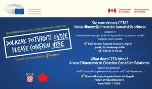 POZIV: CETA - nova dimenzija hrvatsko-kanadskih odnosa