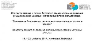 Prijava za sudjelovanje na seminaru programa Erasmus+: prijave do 31. srpnja 2017.