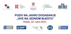 """Javno događanje """"Sve na jednom mjestu"""" u Osijeku, 22. rujna 2017."""