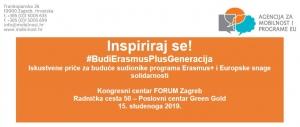 Poziv na događaj - Inspiriraj se! #BudiErasmusPlusGeneracija