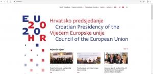 Internetska stranica hrvatskog predsjedanja Vijećem Europske unije