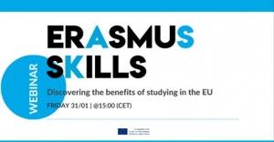 """Webinar """"Erasmus vještine: otkrivanje prednosti studiranja u EU"""""""