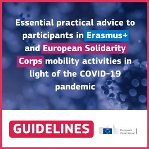 Erasmus+ i Europske snage solidarnosti - praktični savjeti za sudionike u vrijeme pandemije koronavirusa