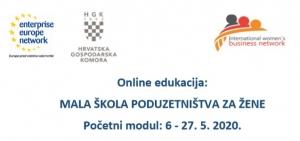 Novi ciklus radionica Male škole poduzetništva za žene (6. - 27. svibnja 2020.) - prijave