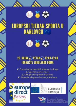 Najava - Europski tjedan sporta u Karlovcu